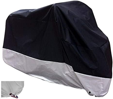 Ryde Silver//Black Waterproof Motorcycle Cover Small