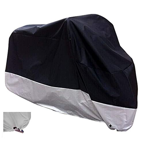 Xyzctem All Season Black Waterproof Sun Motorcycle Cover