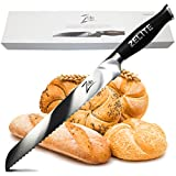 Zelite Infinity Bread Knife 10 Inch - Comfort-Pro Series - German High Carbon Stainless Steel - Razor Sharp, Serrated Blade