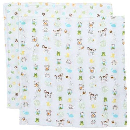 Jenny McCarthy Too Good Baby Muslin Swaddling Blankets A-Z Muslin Swaddle Blankets - Set of 2