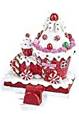 Shelburne Country Store 6 inch Candy Train Stocking Holder - Pink Roof