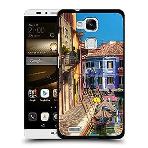 Print Motif Coque de protection Case Cover // V00002810 casas colorido canal y Burano // Huawei Ascend Mate 7