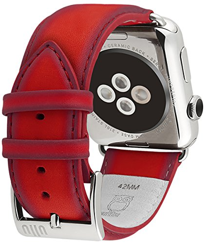 ullu Apple Watch Band for Series 1 & Series 2 in Premium Leather - Bloody Hell - UAWS42SSVT96 by ullu (Image #3)