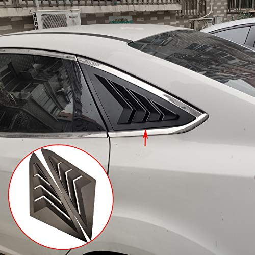 ruihe 2pc Rear Quarter Panel Window Side Louvers Vent Trim Fit for Ford Focus Sedan MK3 4D 2012-2018 (Rear Quarter Trim Panels)