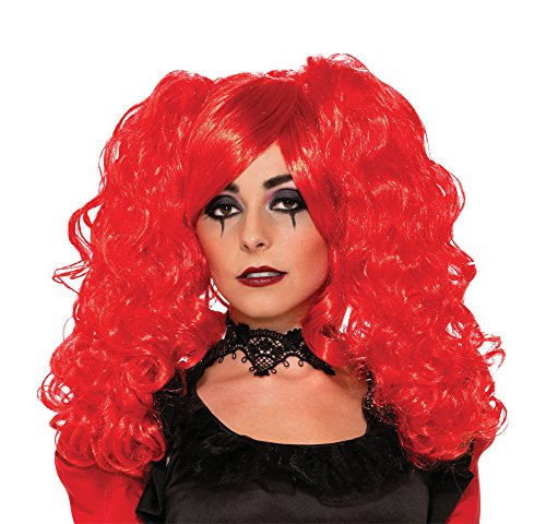 Forum Novelties Women's Twisted Attraction Crimson Vixen Wig, Red, One Size -