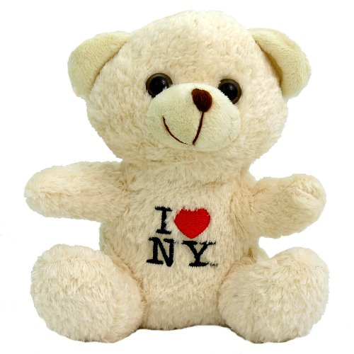 Official I Love NY Teddy Bear Embroidered Plush New York City Bear (6 Inches)