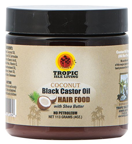Oil Food Hair - Tropic Isle Living Coconut Jamaican Black Castor Oil Hair Food (4 oz)