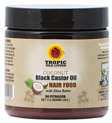 Tropic Isle Living Coconut Jamaican Black Castor Oil Hair Food (4 oz) (Coconut Jamaican Castor Oil)