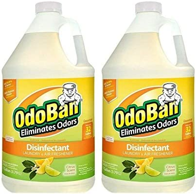 [해외]OdoBan 소독제 냄새 제거제 및 모든 용도의 클리너 농축 / OdoBan Citrus Odor Eliminator and Disinfectant Multipurpose Cleaner Concentrate, 2 Gal, 3.79 Litre (2 Count),