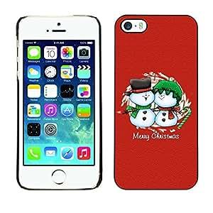 YOYO Slim PC / Aluminium Case Cover Armor Shell Portection //Christmas Holiday Merry Chrstmas Friendly Snow Men 1105 //Apple Iphone 5 / 5S
