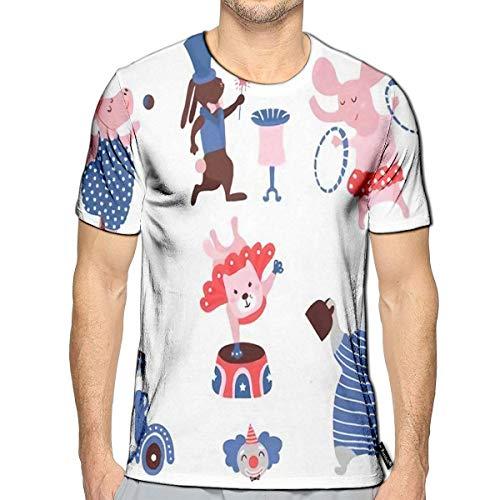 Circus Clipart - 3D Printed T-Shirts Circus Animals Clipart Hippo Cat Bear Bunny Elephant Rabbit