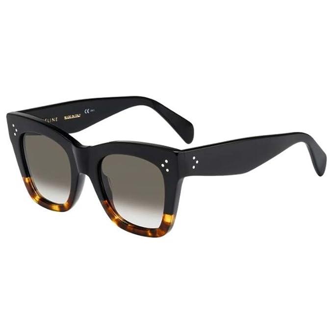 6f6fa7ecd2 Celine Sunglasses CL 41090 S Sunglasses FU5Z3 Black Havana 50mm  Amazon.ca   Clothing   Accessories