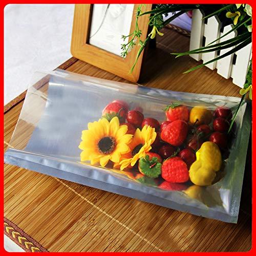 BeesClover 100pcs/lot 22cm30cm160mic Half Clear + Al Foil Poly Shipping Bag Lace Plastic Shopping Bag Show