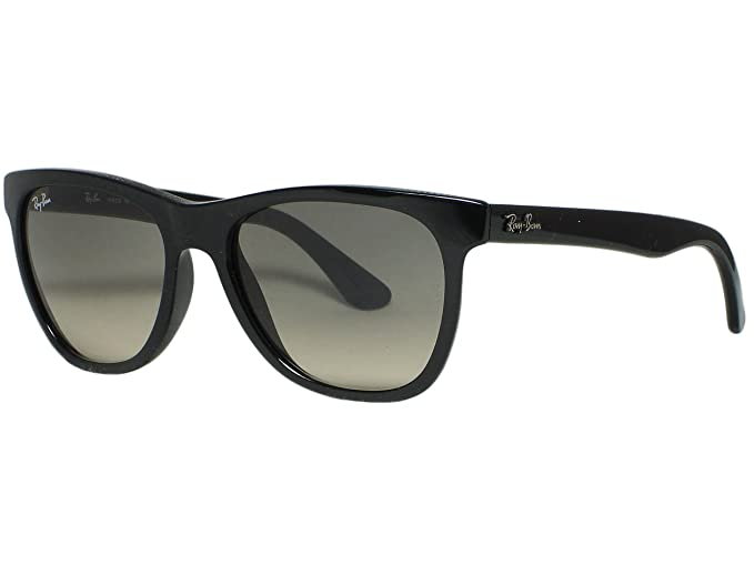 113cc60f34 Image Unavailable. Image not available for. Colour  Ray Ban RB4184 601 32  Shiny Black   Gray gradient Sunglasses