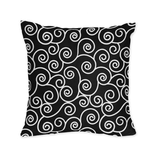 Black And White Decorative Throw Pillows : Black and White Madison Decorative Accent Throw Pillow by - Import It All