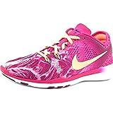 Nike Women's Free 5.0 Tr Fit 5 Prt Fireberry/Snst Glow/Mlbrry/Blk Training Shoe 7.5 Women US