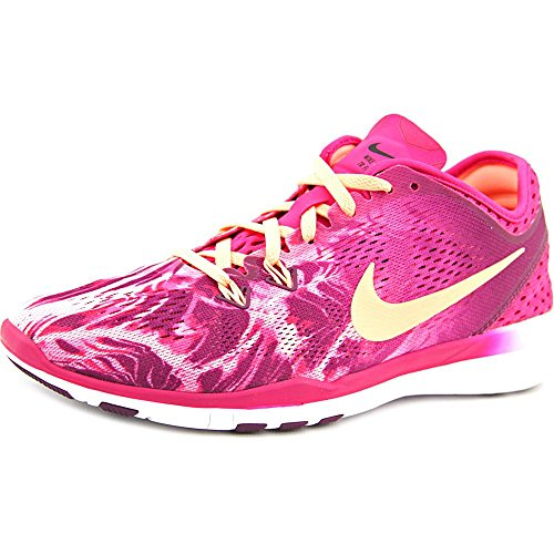 Nike Women's Free 5.0 Tr Fit 5 Prt Fireberry/Snst Glow/Mlbrry/Blk Training Shoe 7.5 Women US by NIKE