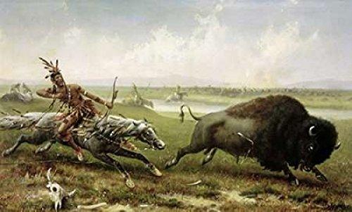 Posterazzi Buffalo Hunt Poster Print by Frederick Walker (24 x 36)