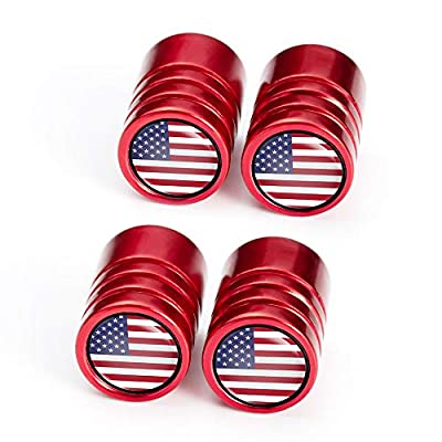 IJUSTBY 4 Pcs Metal Car Wheel Tire Valve Stem Caps USA Flag for Jeep Dodge Mercedes BMW Mustang Volvo Chevrolet Nissan Audi VW Ford Honda Toyota Jaguar Logo Styling Decoration Accessories.: Automotive