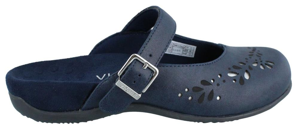 Vionic Orthaheel Technology Rest Midway Womens Mule Mary Jane Navy Size 8