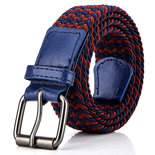 Belt Woven Classic - Elastic Braided Woven Belt for Men/Women, 1.3 Inch Stretch Waist Belt for Jeans Pants with Multi Color Size