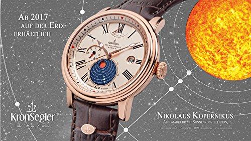 Kronsegler Kopernikus automatiskklocka rokguld-Altrosa med solkonstellation