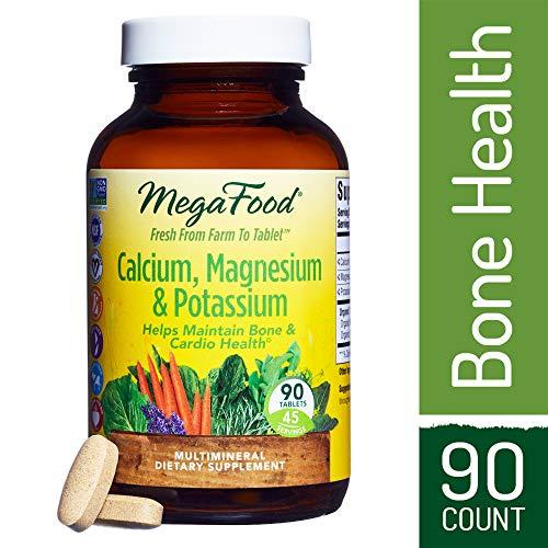 - MegaFood - Calcium, Magnesium & Potassium, Promotes Healthy Bones, Muscles, Blood Pressure Levels, and Cardiovascular Health, Vegetarian, Gluten-Free, Non-GMO, 90 Tablets (FFP)