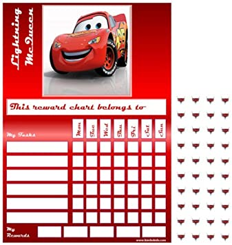 Cars Red Star Sticker Reward Chart