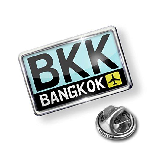 Bangkok Pin (Pin Airport code BKK / Bangkok country: Thailand - Lapel Badge - NEONBLOND)