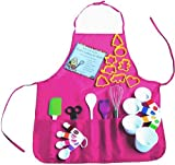 Playful Chef 23 Piece Pink Apron Children's Baking Set