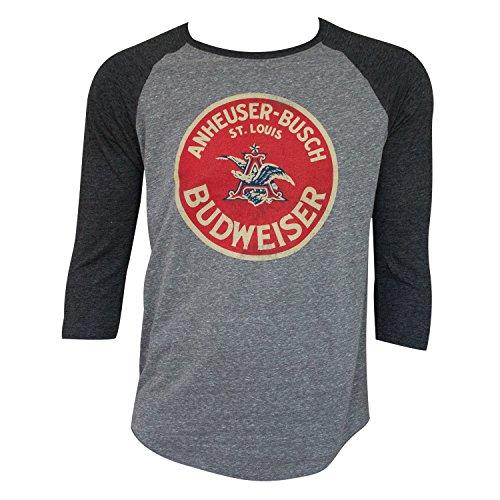 Budweiser Vintage Round Logo Raglan Shirt Medium