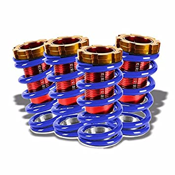 Amazoncom FrontRear Scaled Blue Lowering Springs Red Coilover For - Acura integra lowering springs
