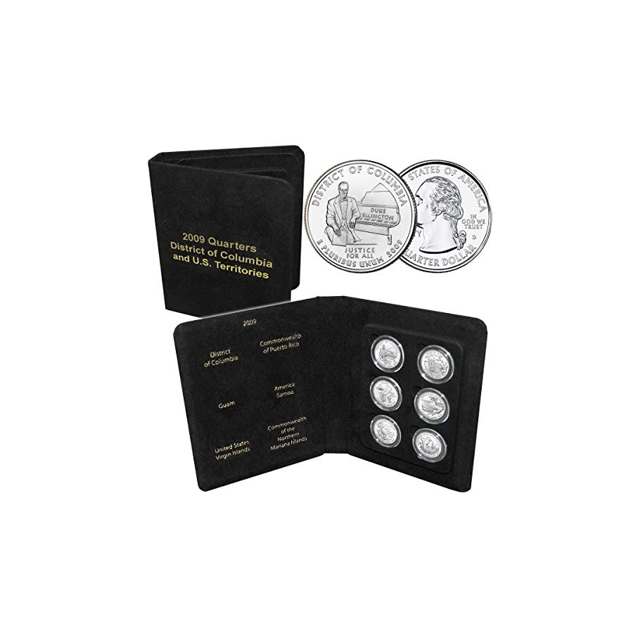 2009 D.C. & U.S. Territories Quarter Set Brilliant Uncirculated