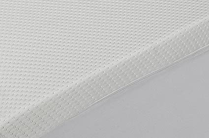 Classic Blanc - Topper, sobrecolchón viscoelástico aloe vera, desenfundable, firmeza media, 90 x 200 cm, altura 5 cm, cama 90 (Todas las medidas): ...