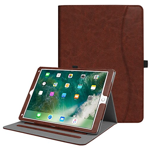 Fintie iPad Pro 12.9 Case - [Corner Protection] Multi-Angle Viewing Folio Stand Cover with Pocket, Auto Wake / Sleep for Apple iPad Pro 12.9 1st Gen 2015 / iPad Pro 12.9 2nd Gen 2017, Vintage Brown