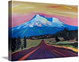 Wall Art Print entitled Mystical_Mt_Shasta_-_White_Mountain_In_Cascades_Ra by M Bleichner