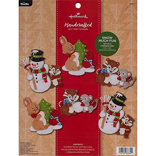 - Bucilla 86882 Hallmark Felt Ornament Kit, 4