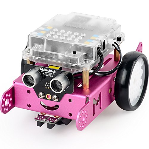 Makeblock DIY mBot 1.1 Kit (Bluetooth Version) – STEM Education – Arduino – Scratch 2.0 – Programmable Robot Kit for Kids to Learn Coding & Robotics – Pink