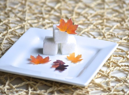 Mini Edible Fall Leaves - Set of 48 - Cake Decorations, Cupcake Topper -