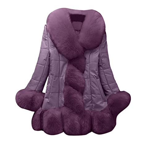 Amazon.com: Besde Womens Autumn and Winter Fashion Faux Fur Coat Plush Splice Outerwear Long Down Coat: Pet Supplies
