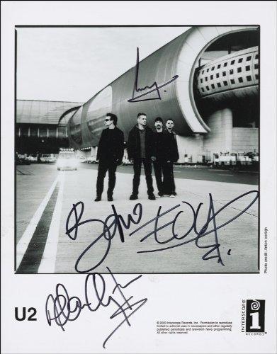 U2 AUTOGRAMM, GLÄNZEND, GLOSSY PHOTO PRINT GLÄNZEND