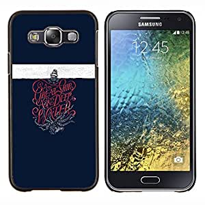 """Be-Star Único Patrón Plástico Duro Fundas Cover Cubre Hard Case Cover Para Samsung Galaxy E5 / SM-E500 ( Buque Kraken monstruo marino Velero"""" )"""