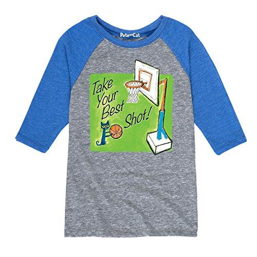 Shot T-shirt Youth (Pete the Cat Take Your Best Shot Multi - Youth Raglan)
