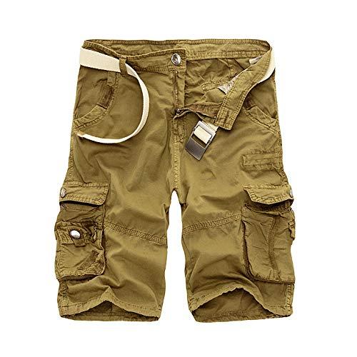 Cargo Shorts Men Cool Summer Cotton Casual Men Short Pants ()