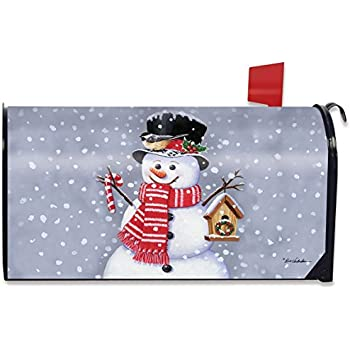 snowman birdhouse magnetic mailbox cover christmas candy cane