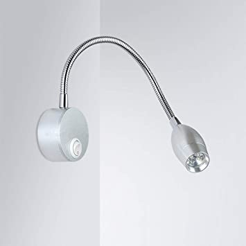 3W LED Picture Light Flexible Pipe Spotlight Night Wall Mount Lamp Jewelry Store