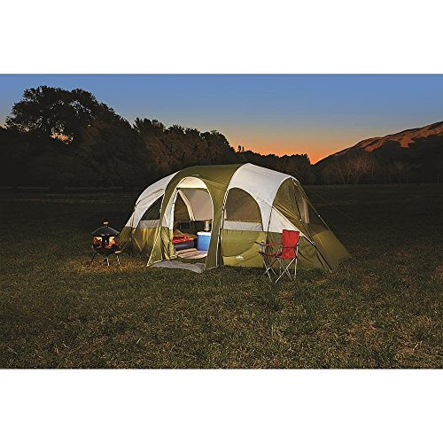 Northwest Territory Eagle River 18′ x 10′, 8 Person Tent with Quick Camp Insta-Frame