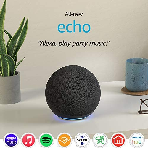 All-new Echo (4th Gen) | With top class sound, sensible house hub, and Alexa | Charcoal