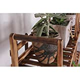 JHZWHJ Wooden Flower Rack Indoor Plant Stand Wooden Plant Flower Display Stand Wood Pot Shelf Storage Rack Outdoor