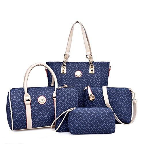 Fuyuko Autumn Bag Mother Bag Five New Fashion Bag Lady Bag Handbag, Pink Blue